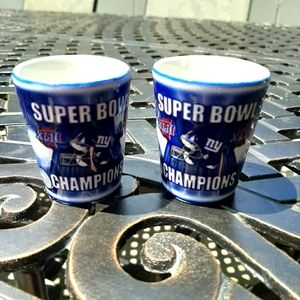 Giants Superbowl XLII , NFL Shotglasses, Set of 2